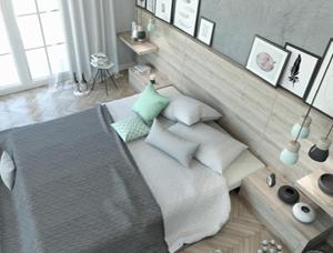 Sypialnia z nutą mięty